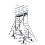 Échafaudage roulant ECOPRO chariot sur escaliers