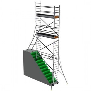 Échafaudage TOPLIGHT sur escalier